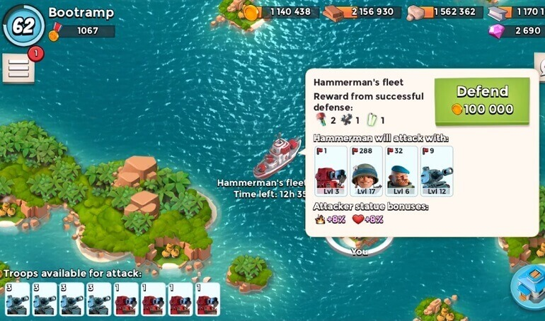 Boom Beach PC Game Play