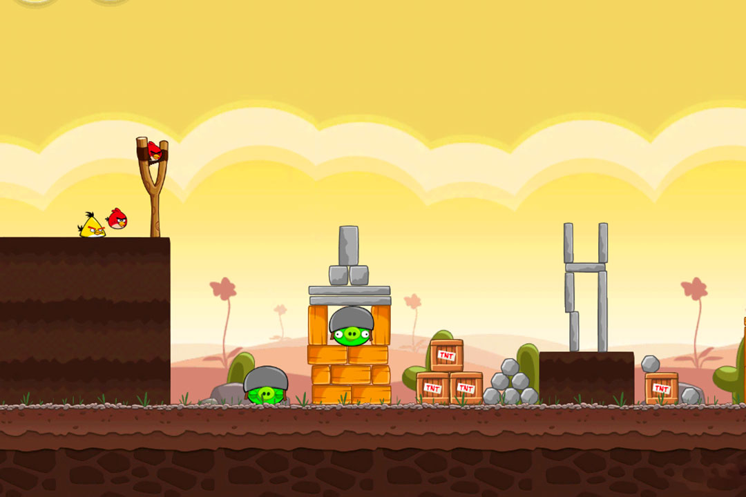 angry birds fortified pigs