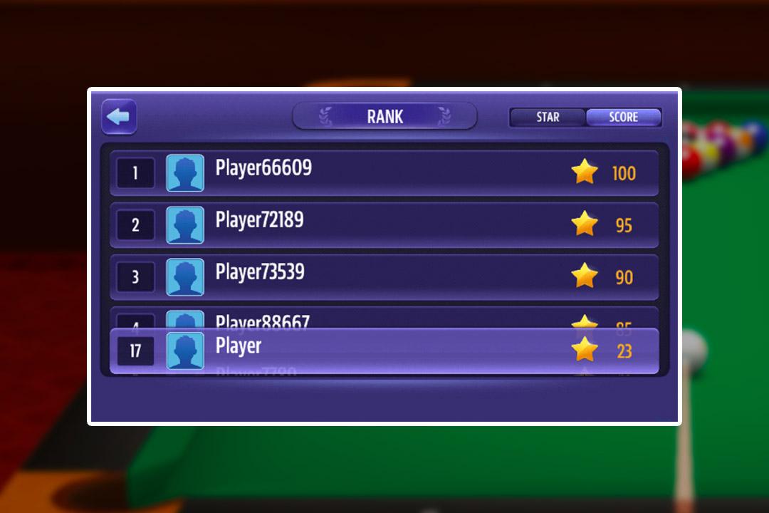 billiard rank score