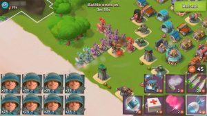 boom beach mapping enemy guns watch towers