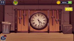 break the prison big clock hanged on wall