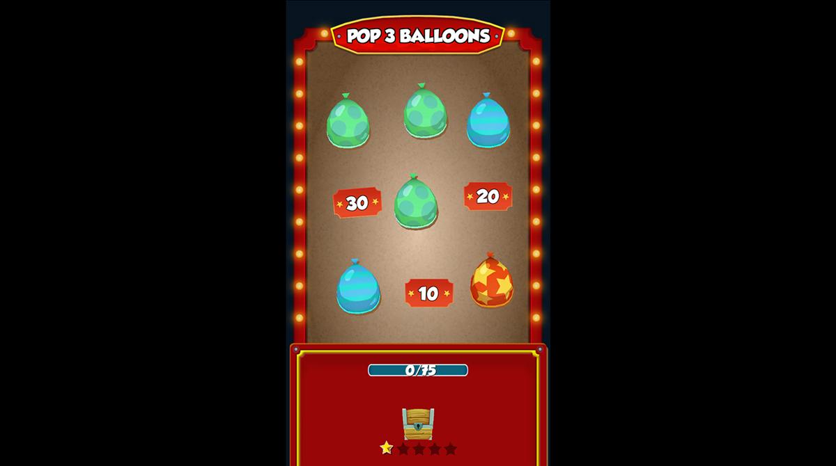 coin dozer pop three colored balloon quest