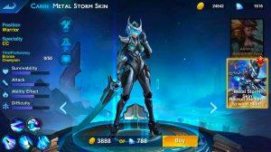 heroes arena carin new skin
