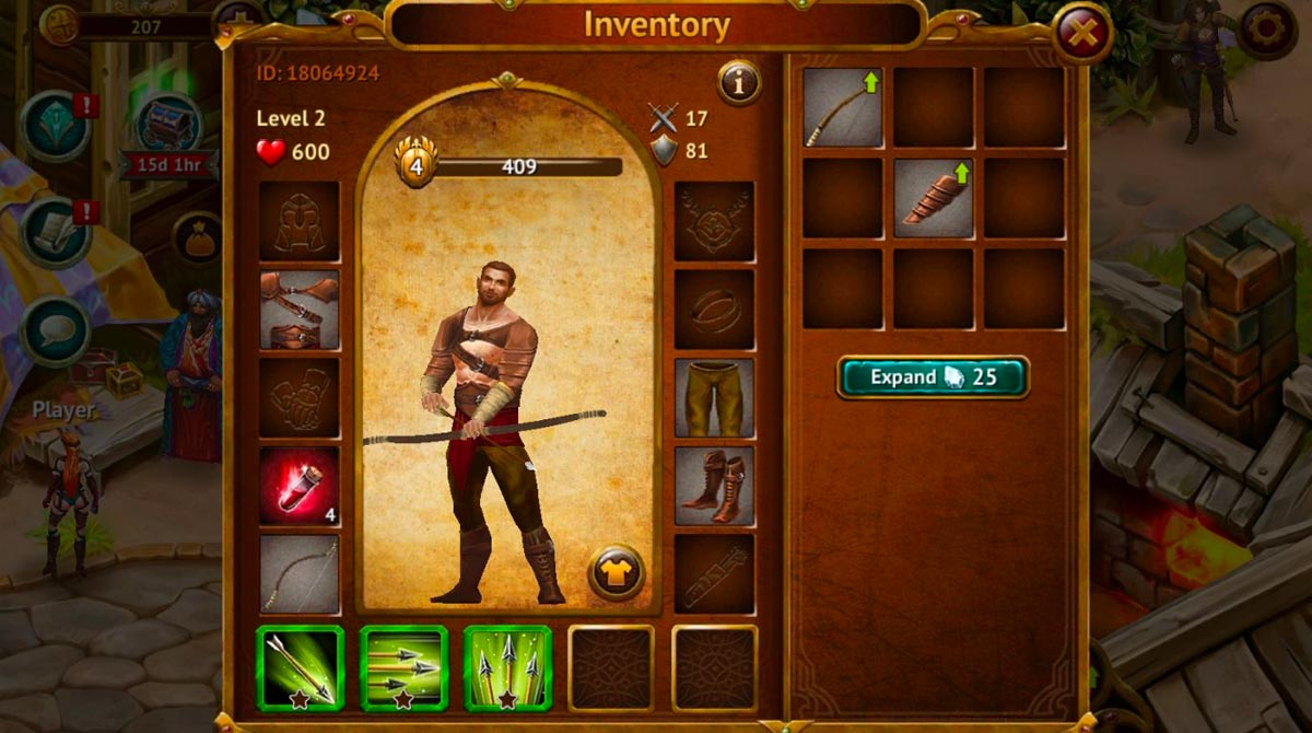guild of heroes customize hero inventory