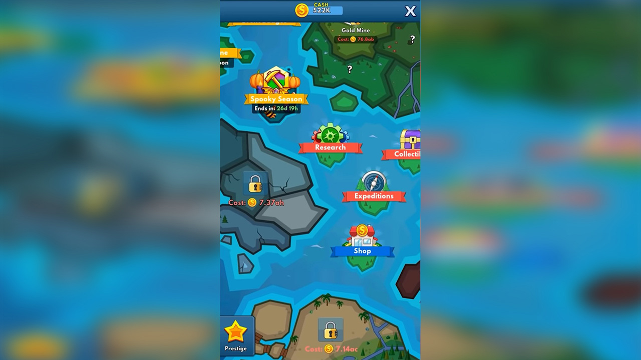 Idle Miner Tycoon Map