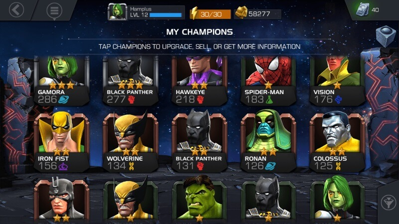Marvel Contest of Champions Characters List Class Download PC
