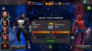 Marvel Contest Of Champions Hero Select
