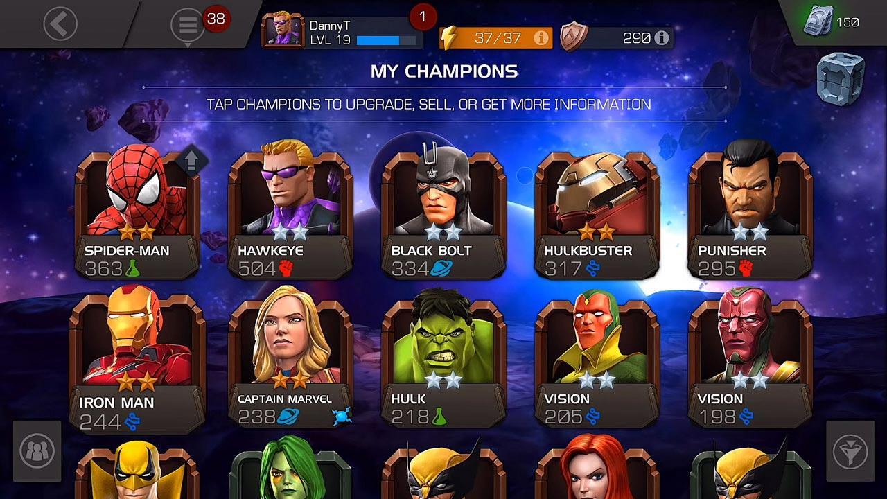 marvel contest of champions my champions