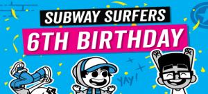 subway surfers 6th birthday free game