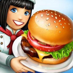 Cooking Fever Chef Serving Burger