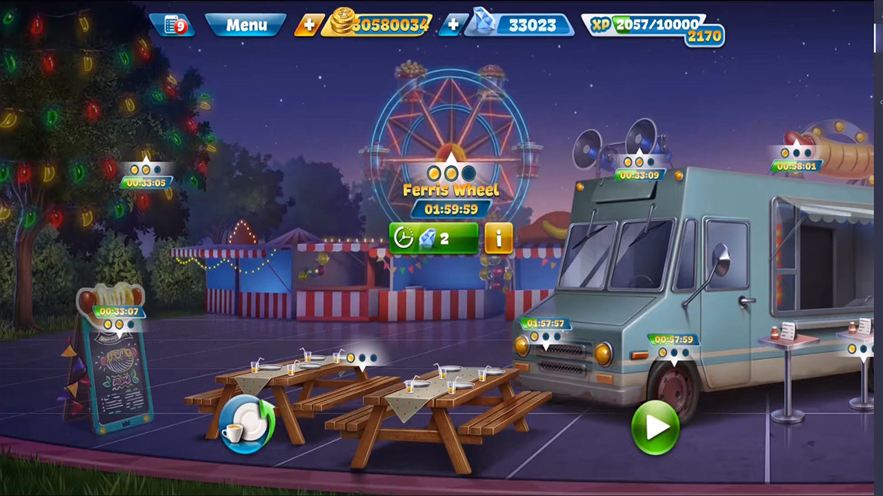 cooking fever food truck outside carnival