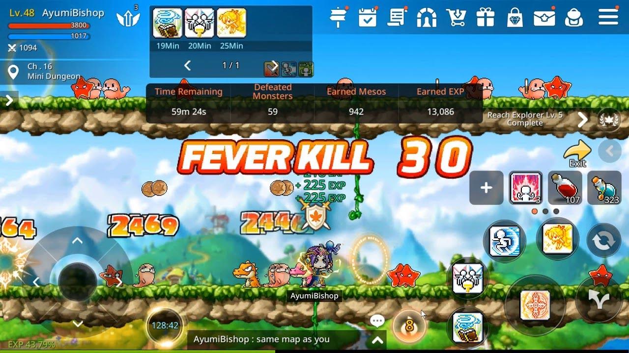 MapleStory M Fever Kill