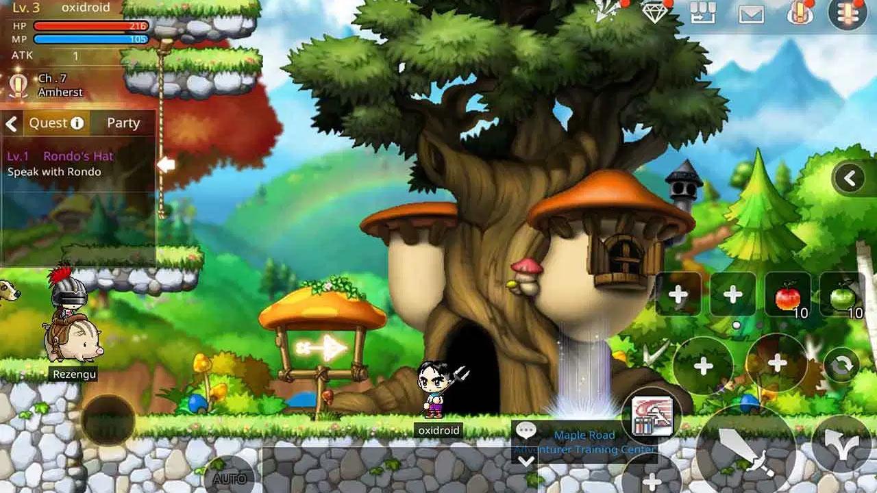 MapleStory M Level 3 Gameplay