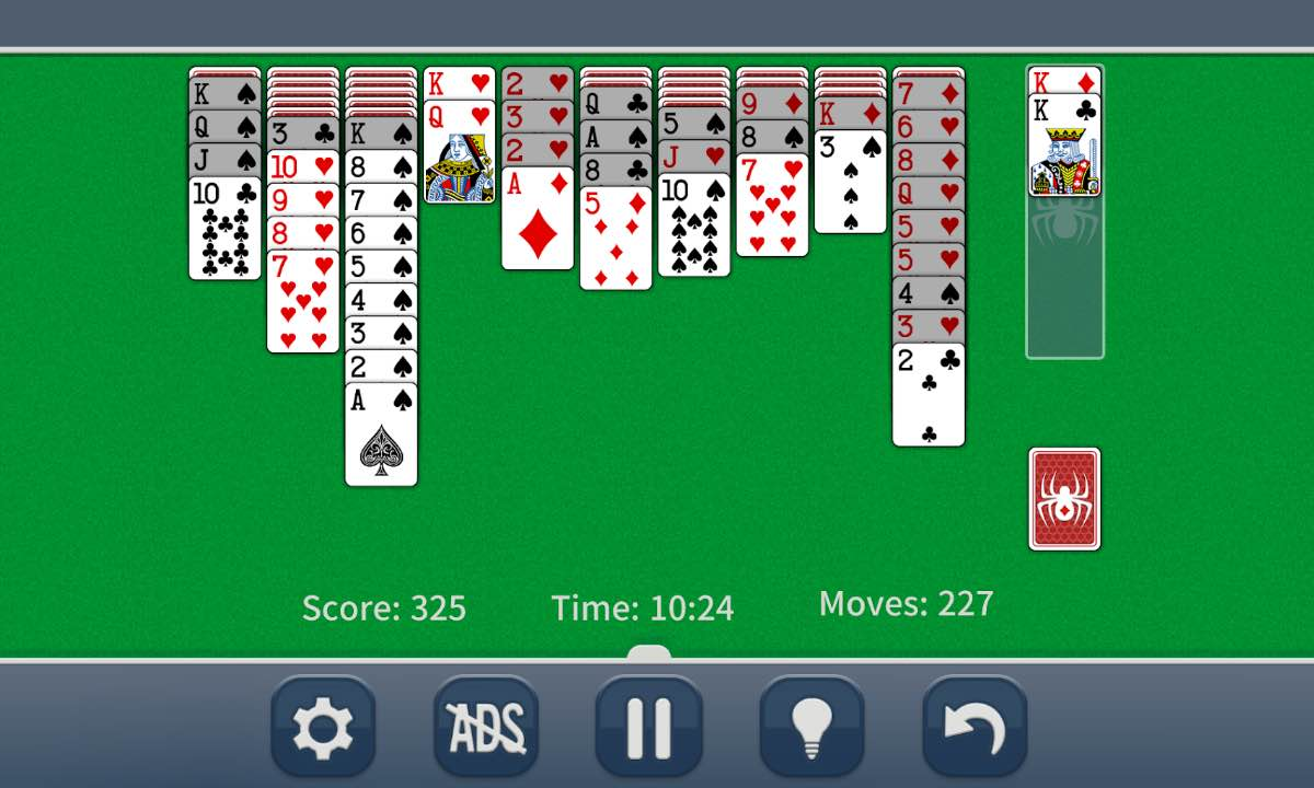 Spider Solitaire Classic cards online