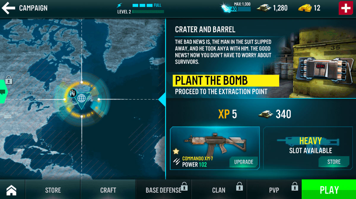 contract killer map for plant bomb mission