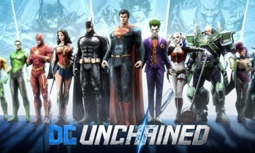 DCUnchained justice league and villains