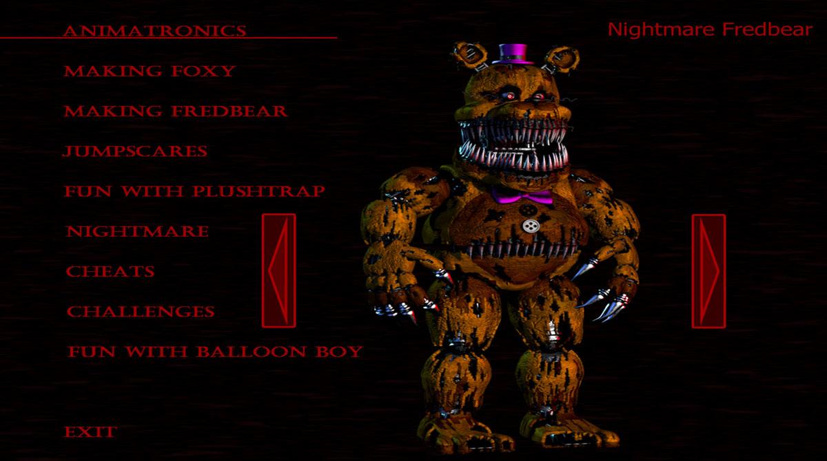 fnf nightmare fredbear customize