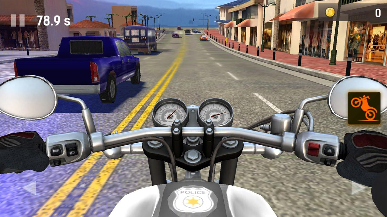 moto rider go traffic police bike