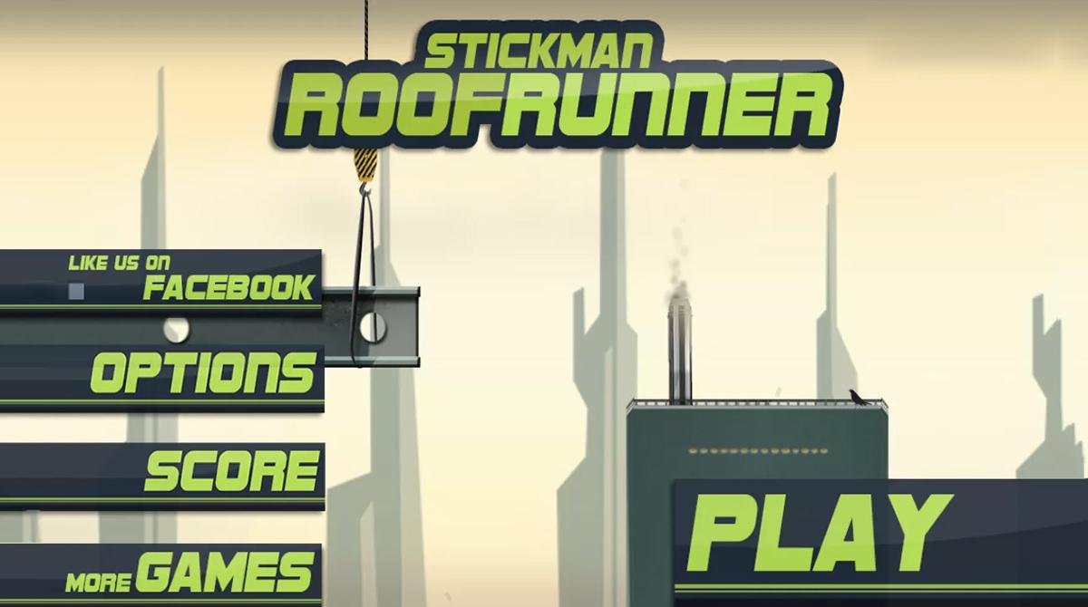 Stickman Roof Runner