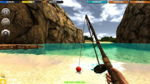 survival forest fishing rod island