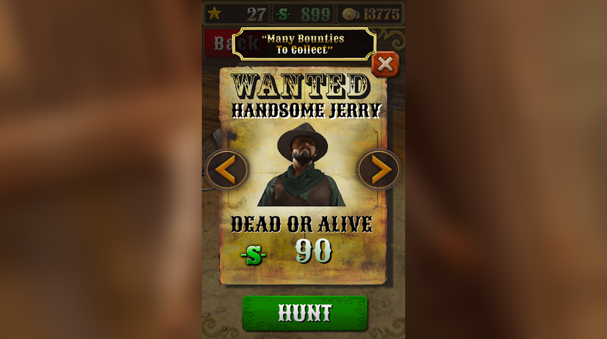 bounty hunt 90 dollar wanted poster of jerry