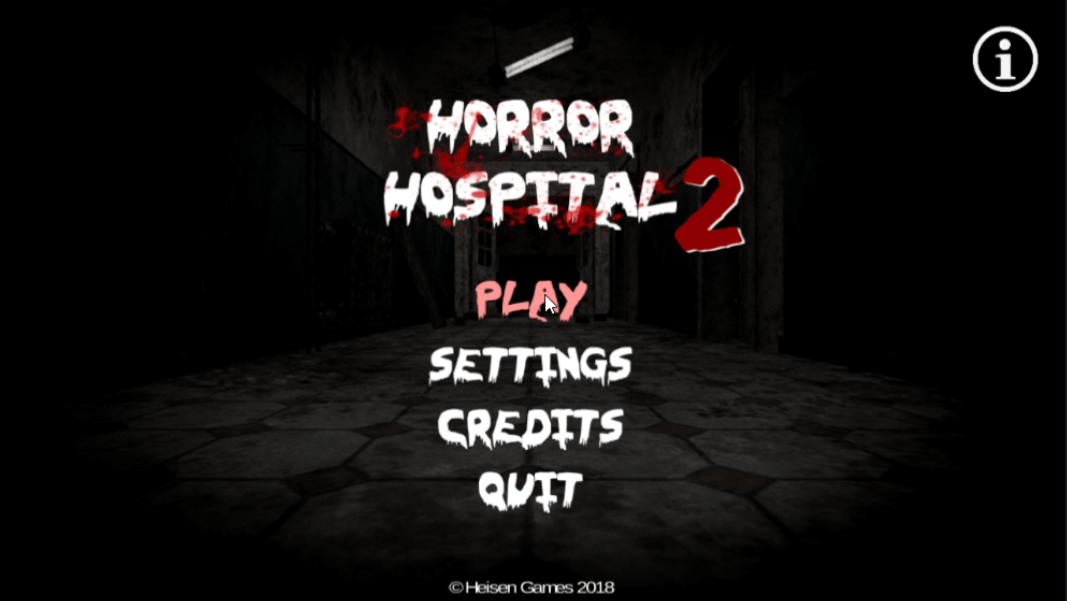 horror hospital 2 game menu