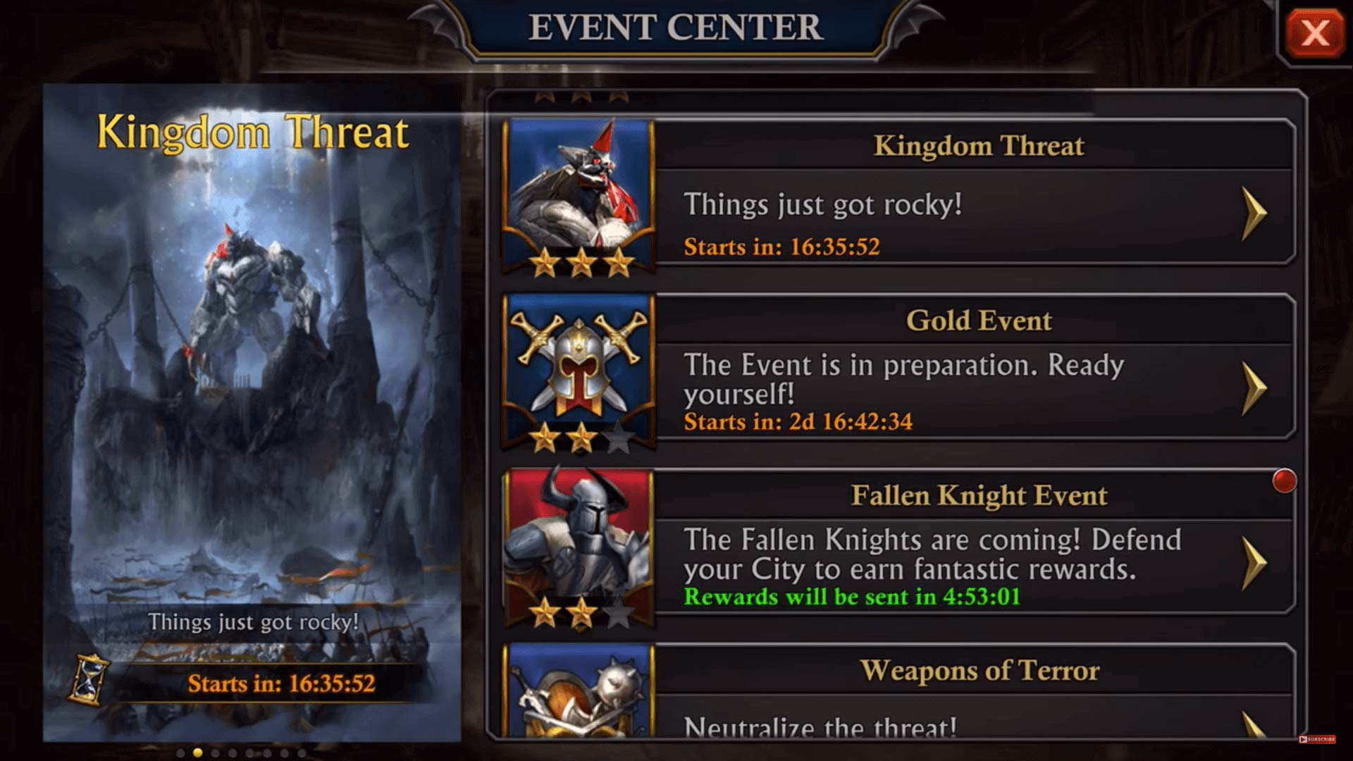 king of avalon event center