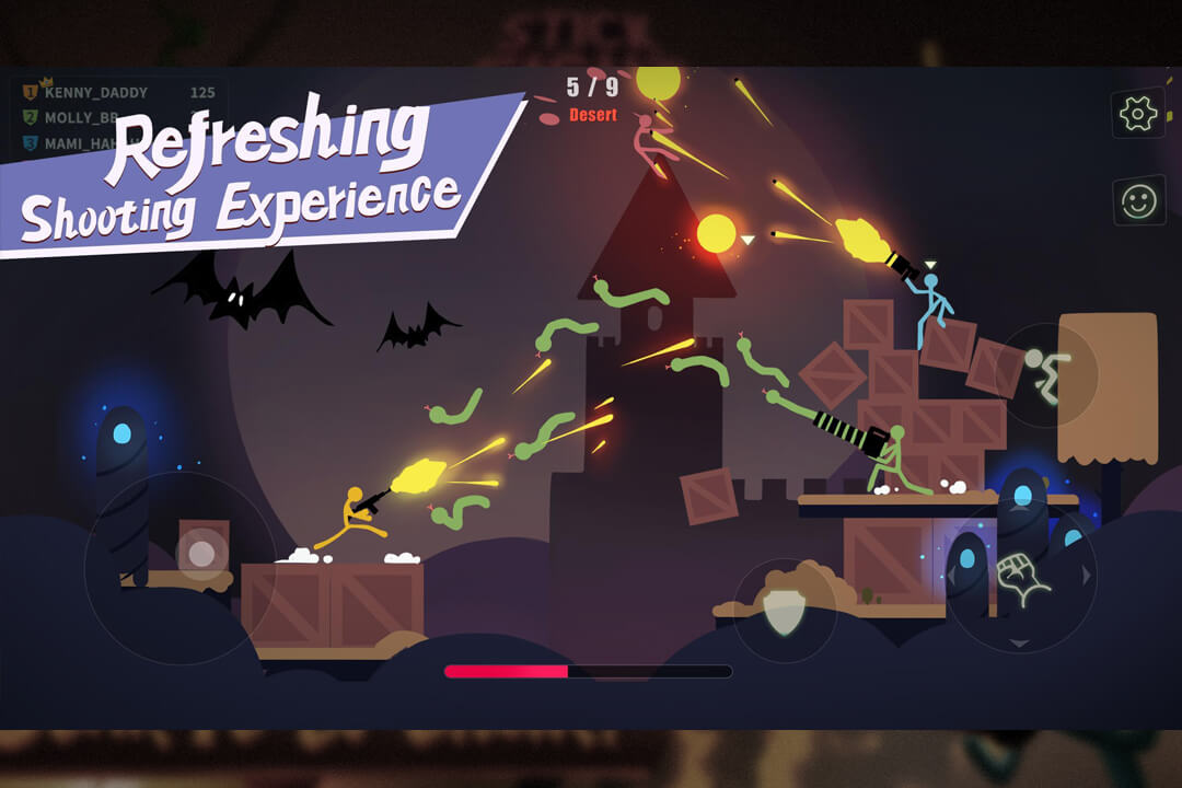 Stick Fight Refreshing Shooting Experience