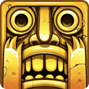 temple run golden idol face