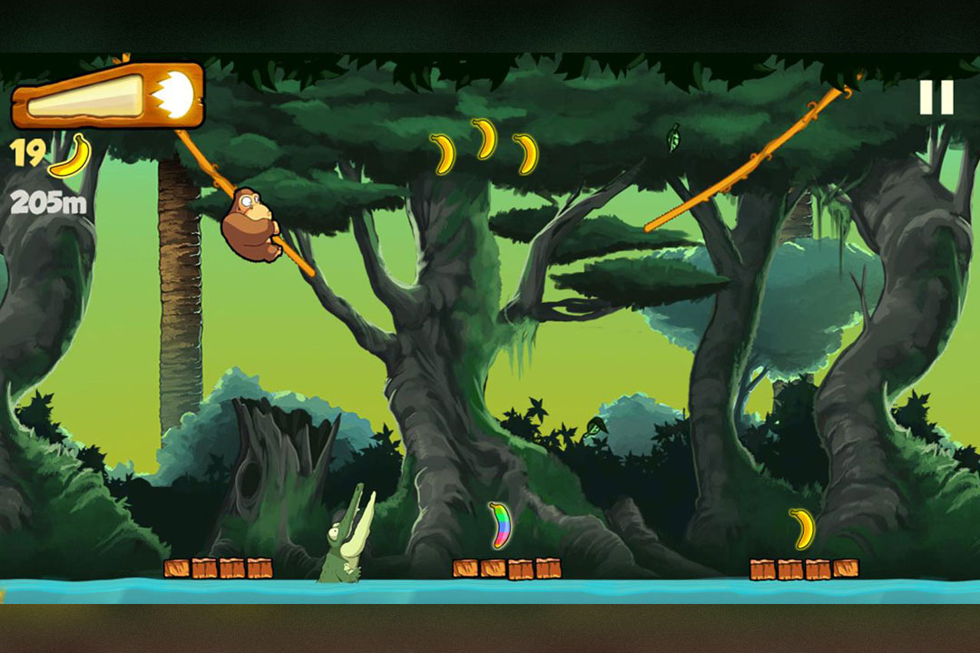 Banana Kong Tree Swing