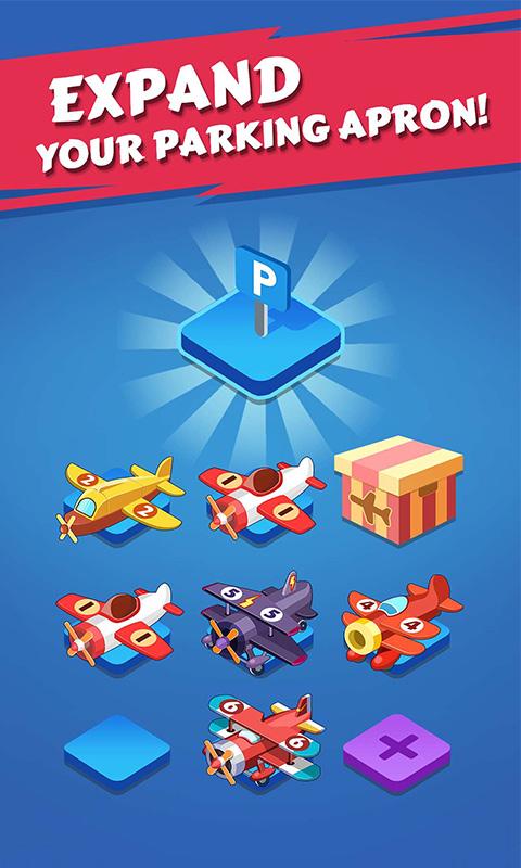 merge plane expand parking