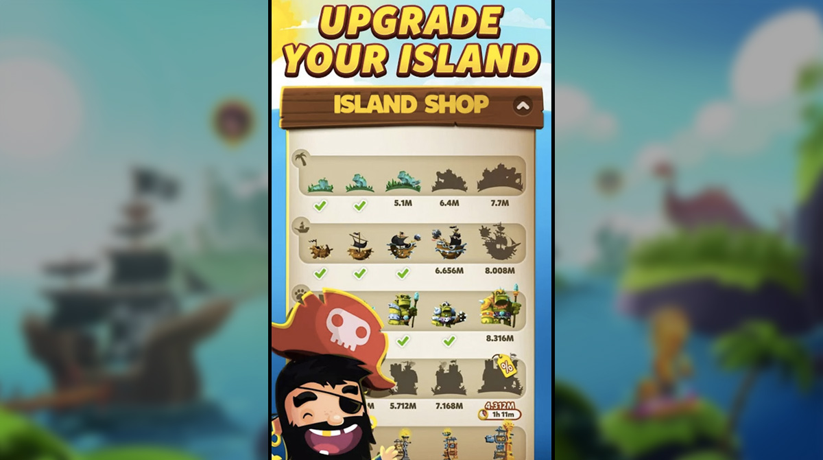 Pirate Kings Upgrade Your Island