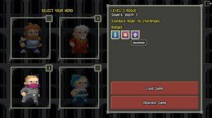 Pixel Dungeon Select Your Hero