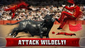 angry bull 2016 attack wildly