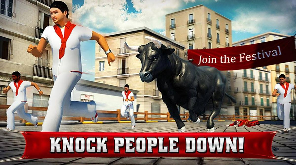 angry bull 2016 knock people down