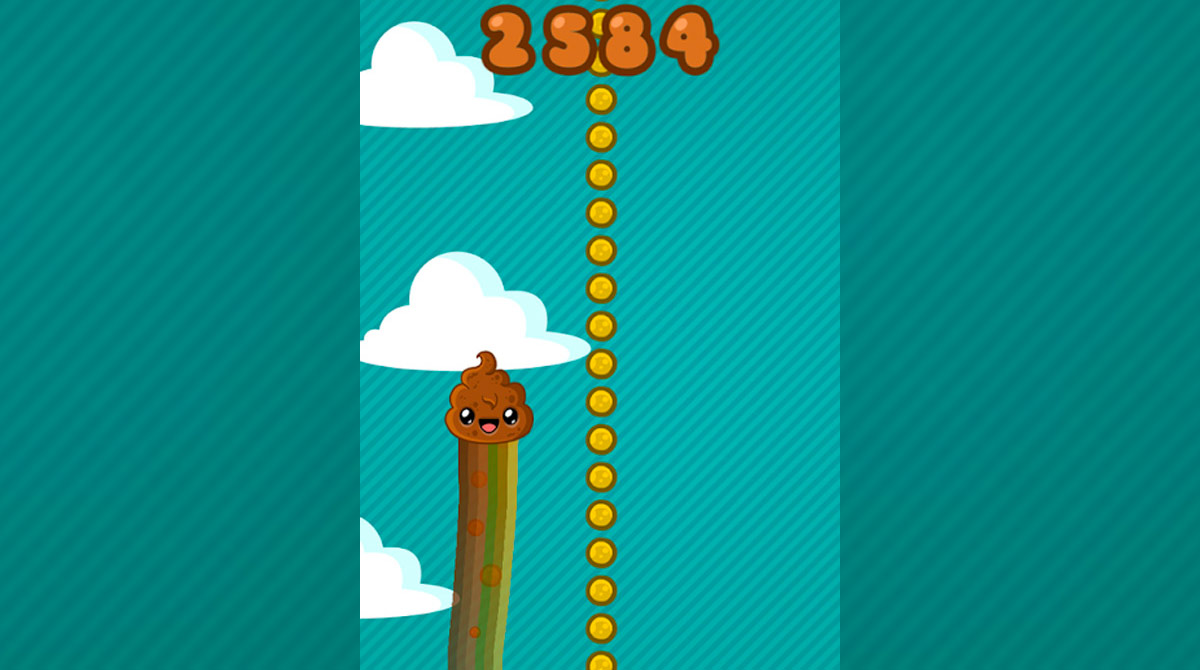 Happy Poo Jump Collect Coins
