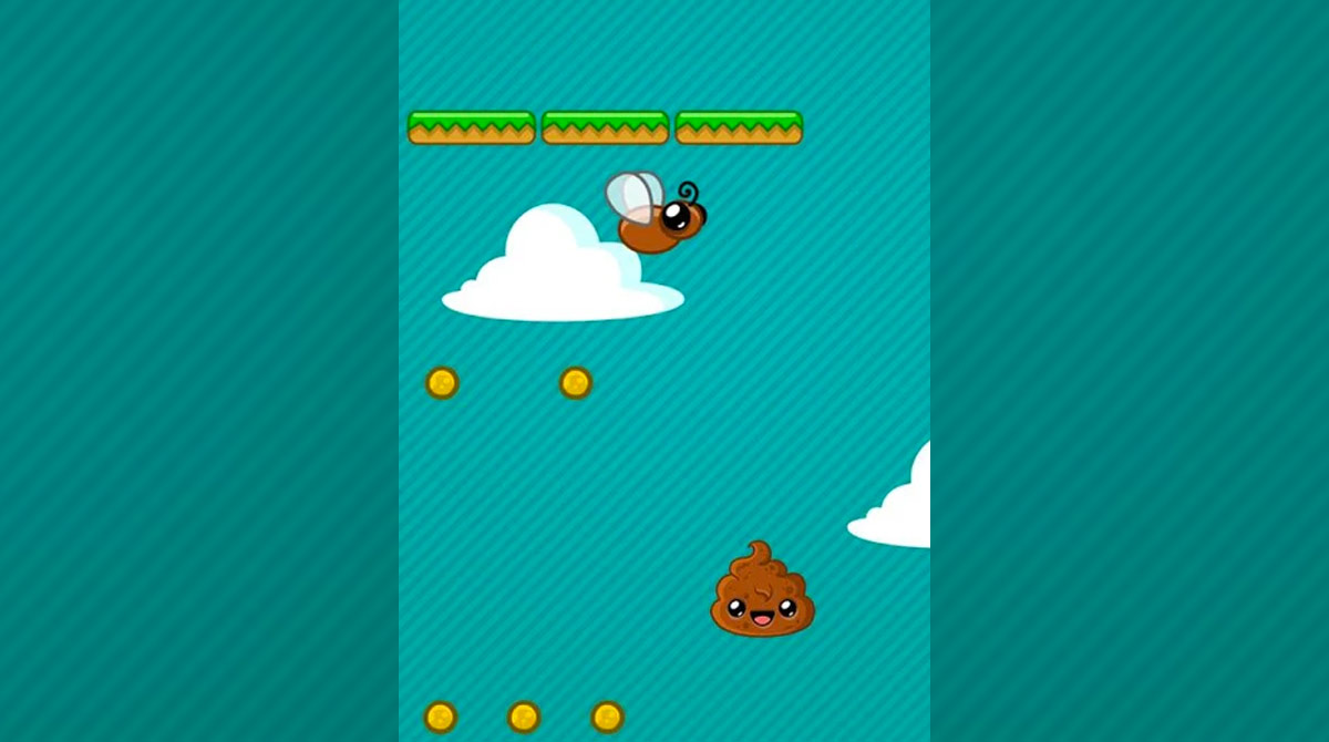 Happy Poo Jump Dodge Mean Fly