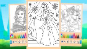 Princess Coloring Game Flower Princess