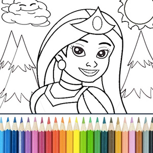 Princess Coloring | #1 Coloring Game for Desktop PC