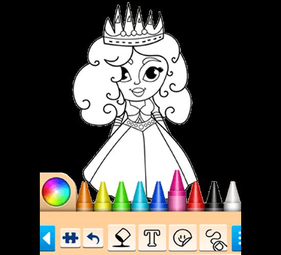 Princess Coloring Game Main