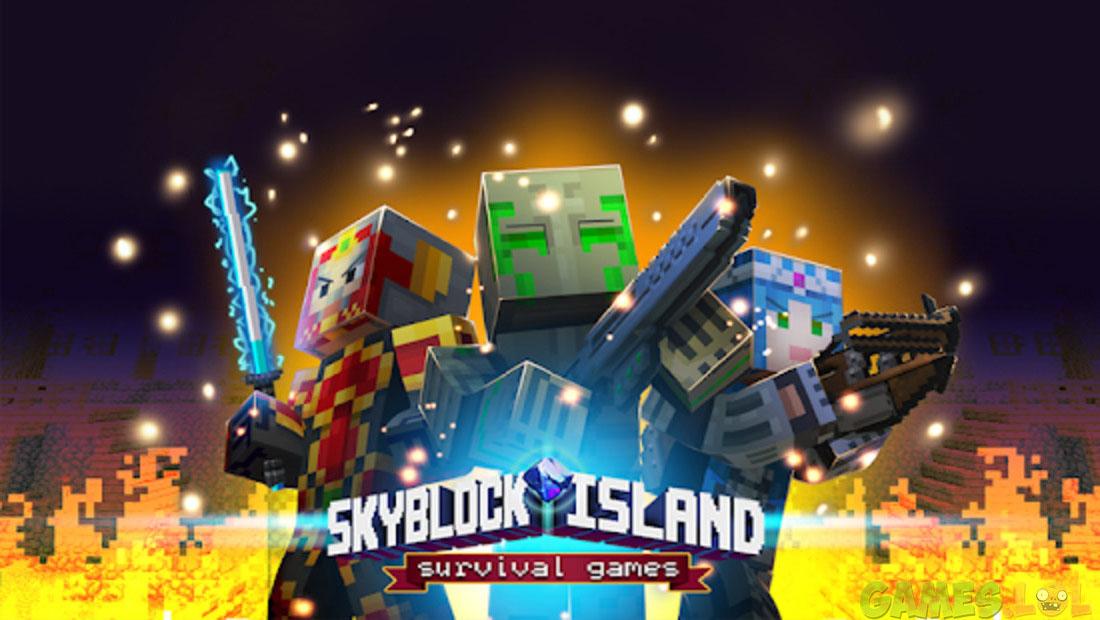 Skyblock Island Survival Games fun