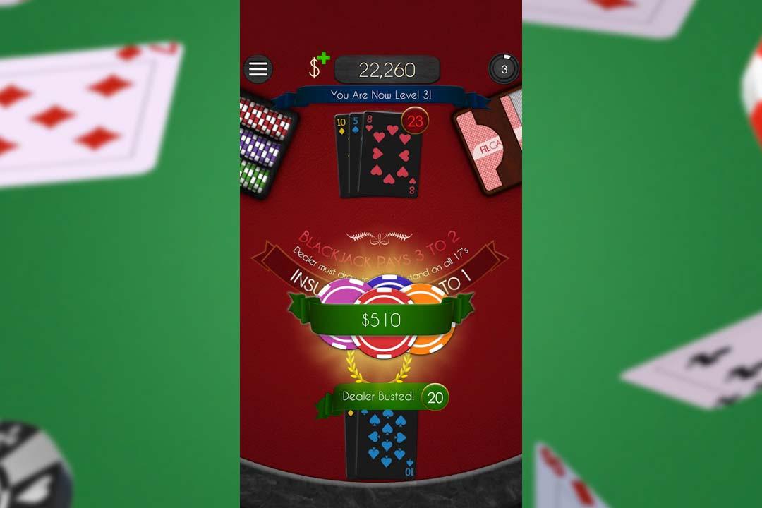blackjack dealer busted