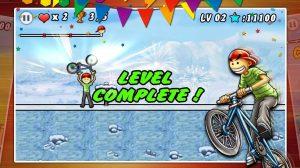 bmx boy rider complete level