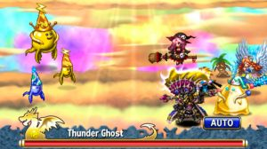 brave frontier witch team faces thunder ghost