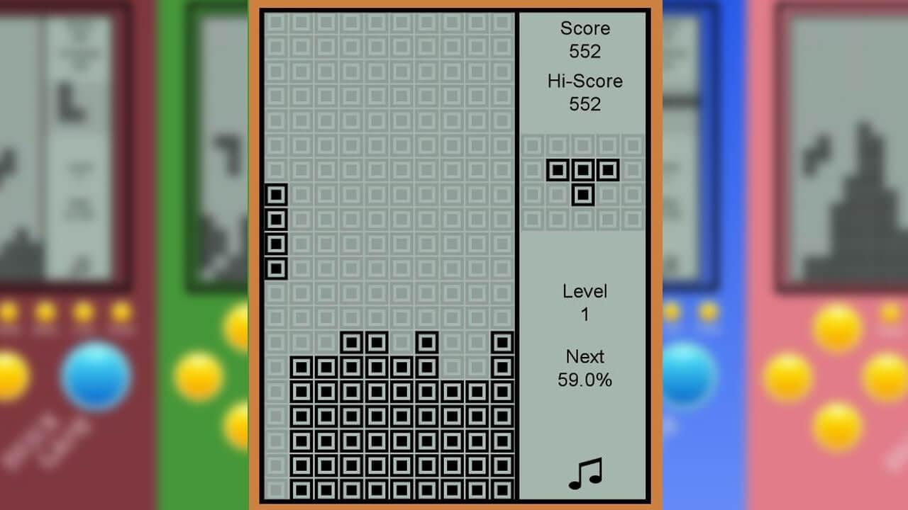 Brick Game I Shape Corner Drop