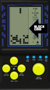 Brick Game Block Falling Grid