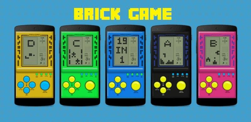 Brick Game Multi Colored Console