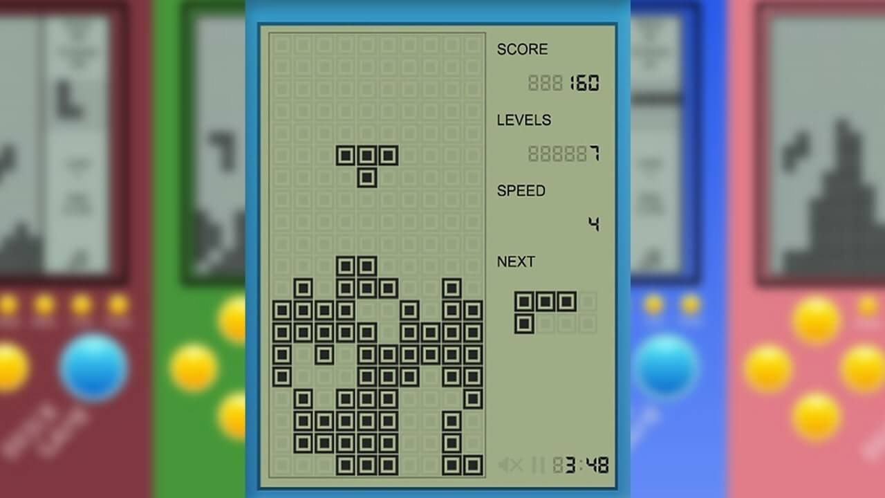Brick Game T Shape Middle Drop