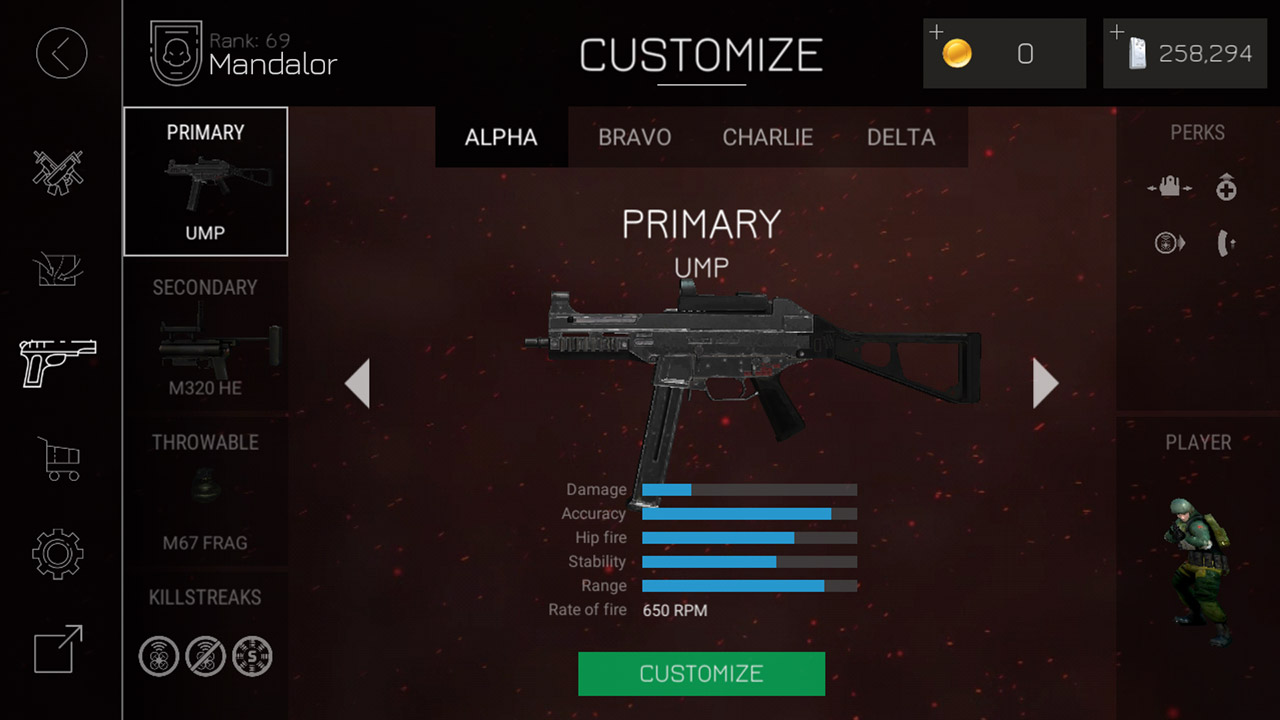 bullet force primary ump weapon