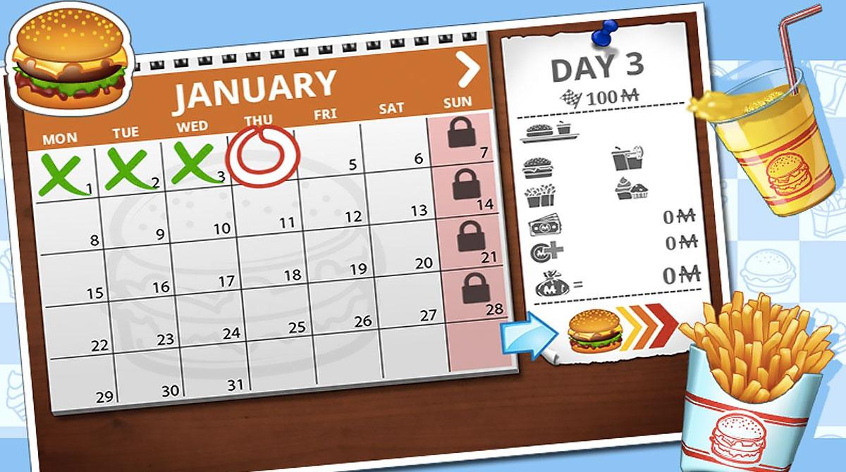 burger calendar schedule
